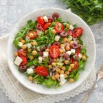 Mediterranean Chickpea and Arugula Salad