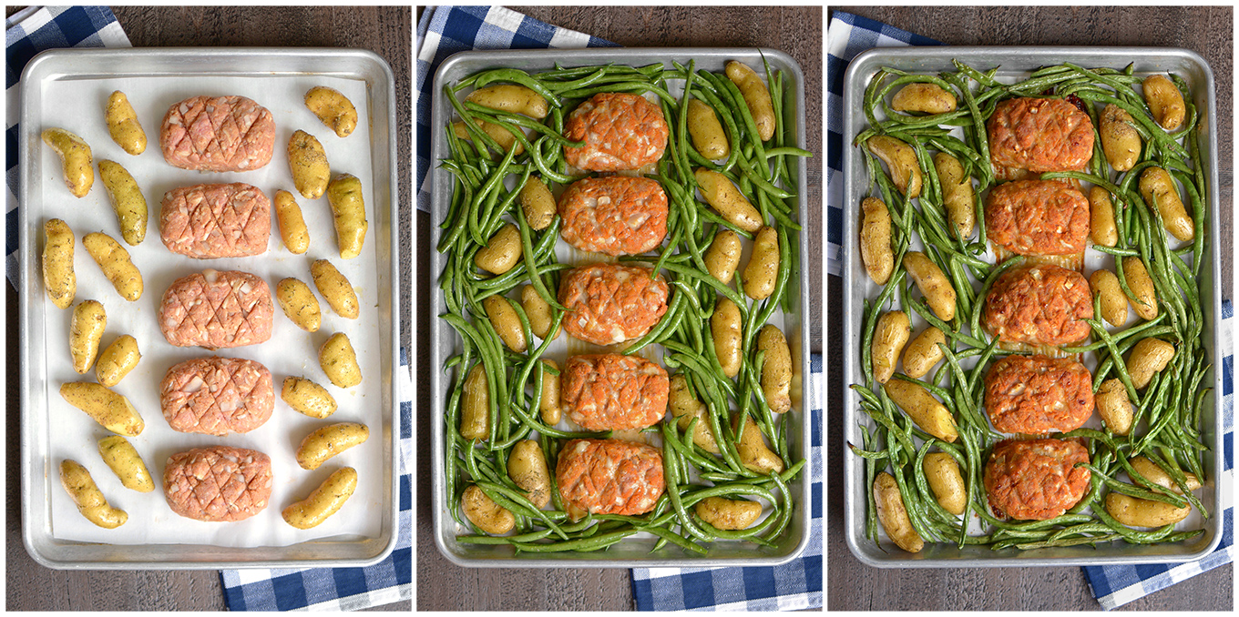 Sheet Pan Mini Turkey Meatloaf Dinner