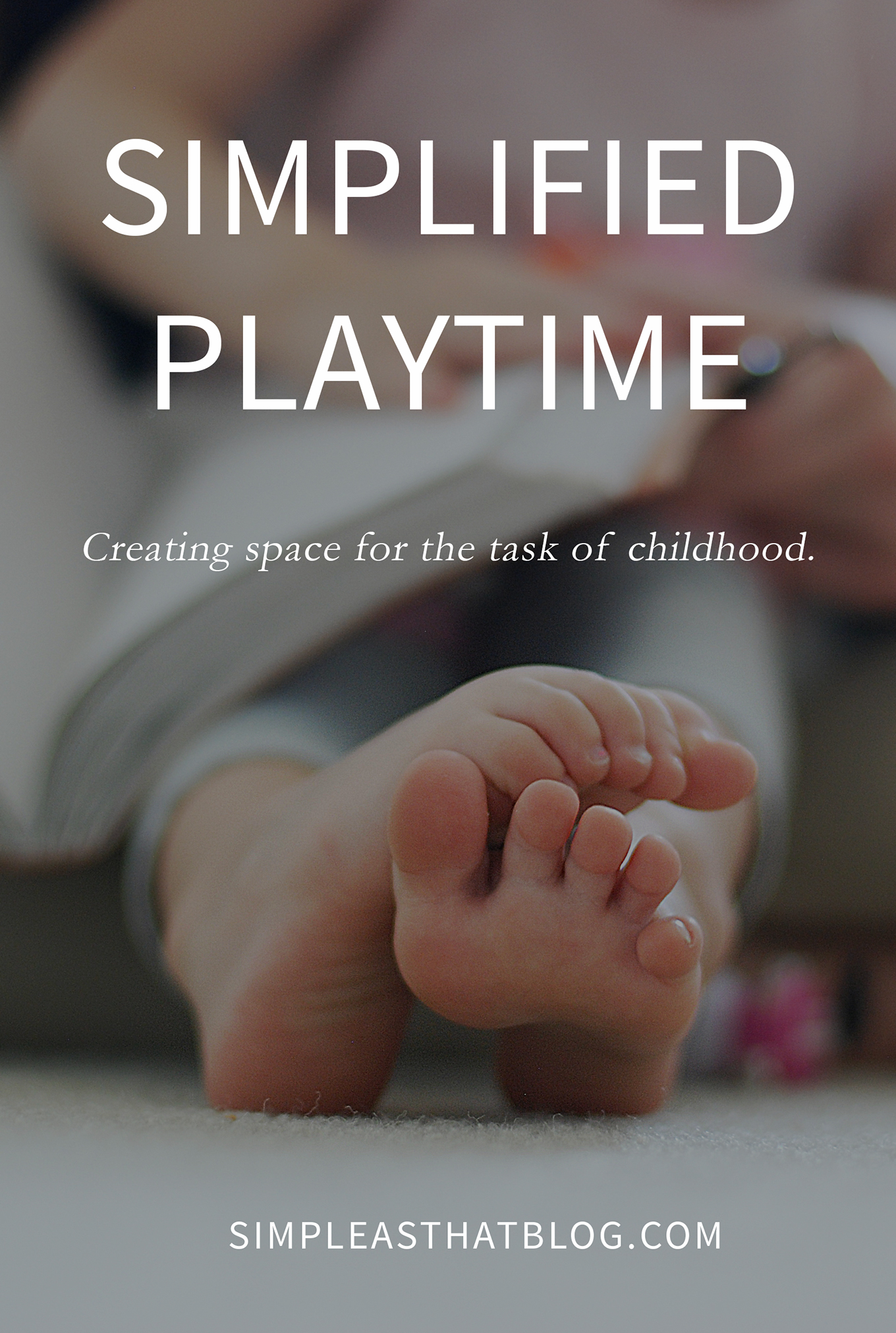 We are the protectors in our children's lives. We can say no to entitlement and say yes to simplifying playtime. What a wonderful gift we can give our kids by creating space for the task of childhood.