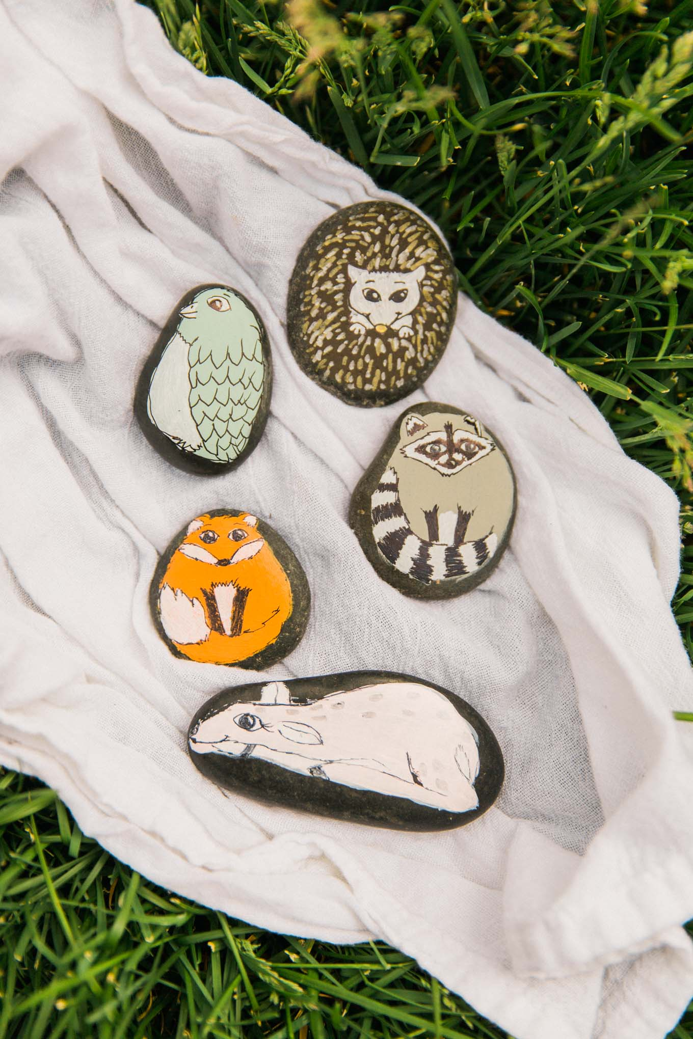 Woodland Creature Pet Rocks Tutorial