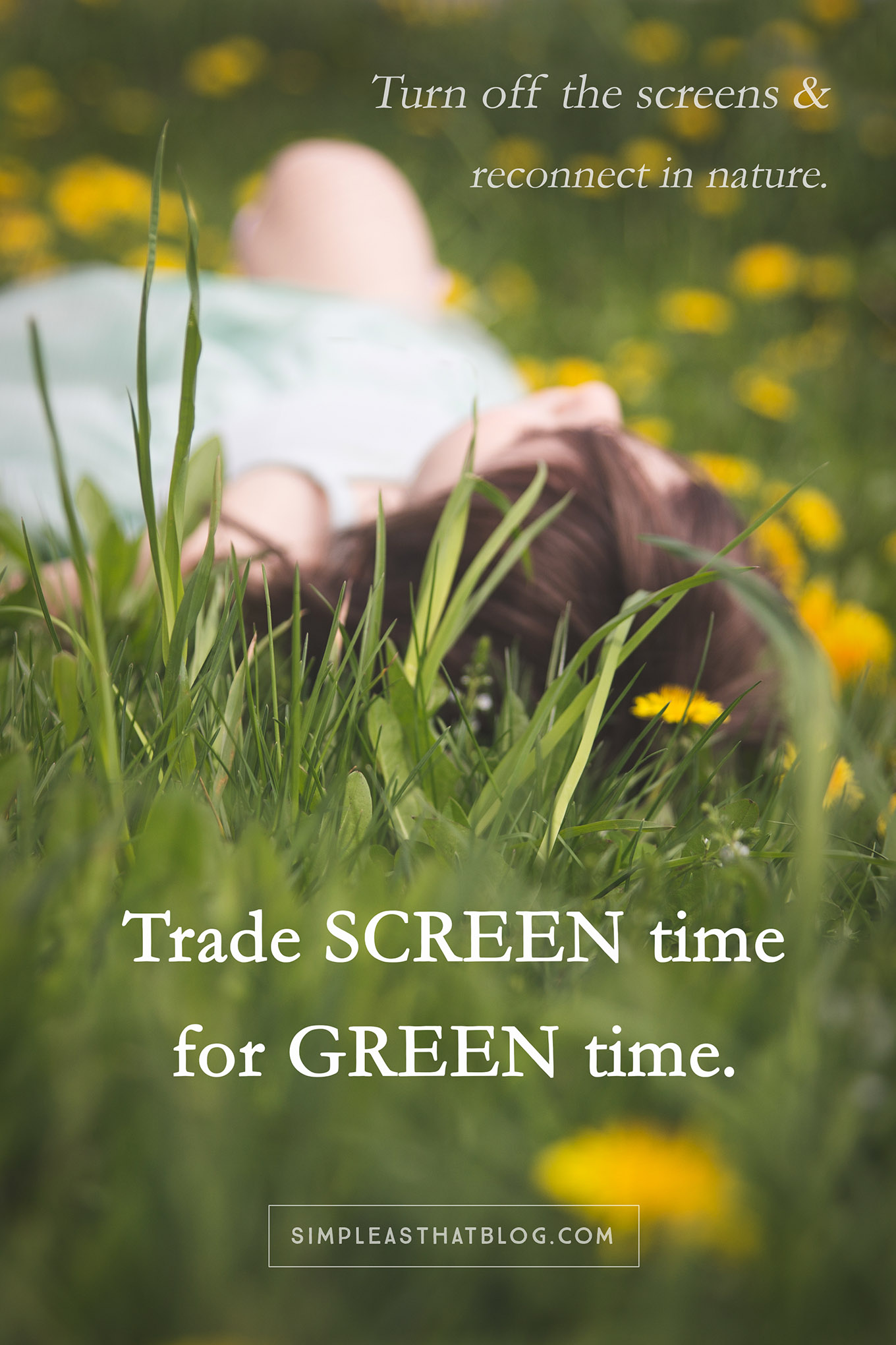 Time spent in nature is essential for our children's health. More on why we should trade screen time for green time –