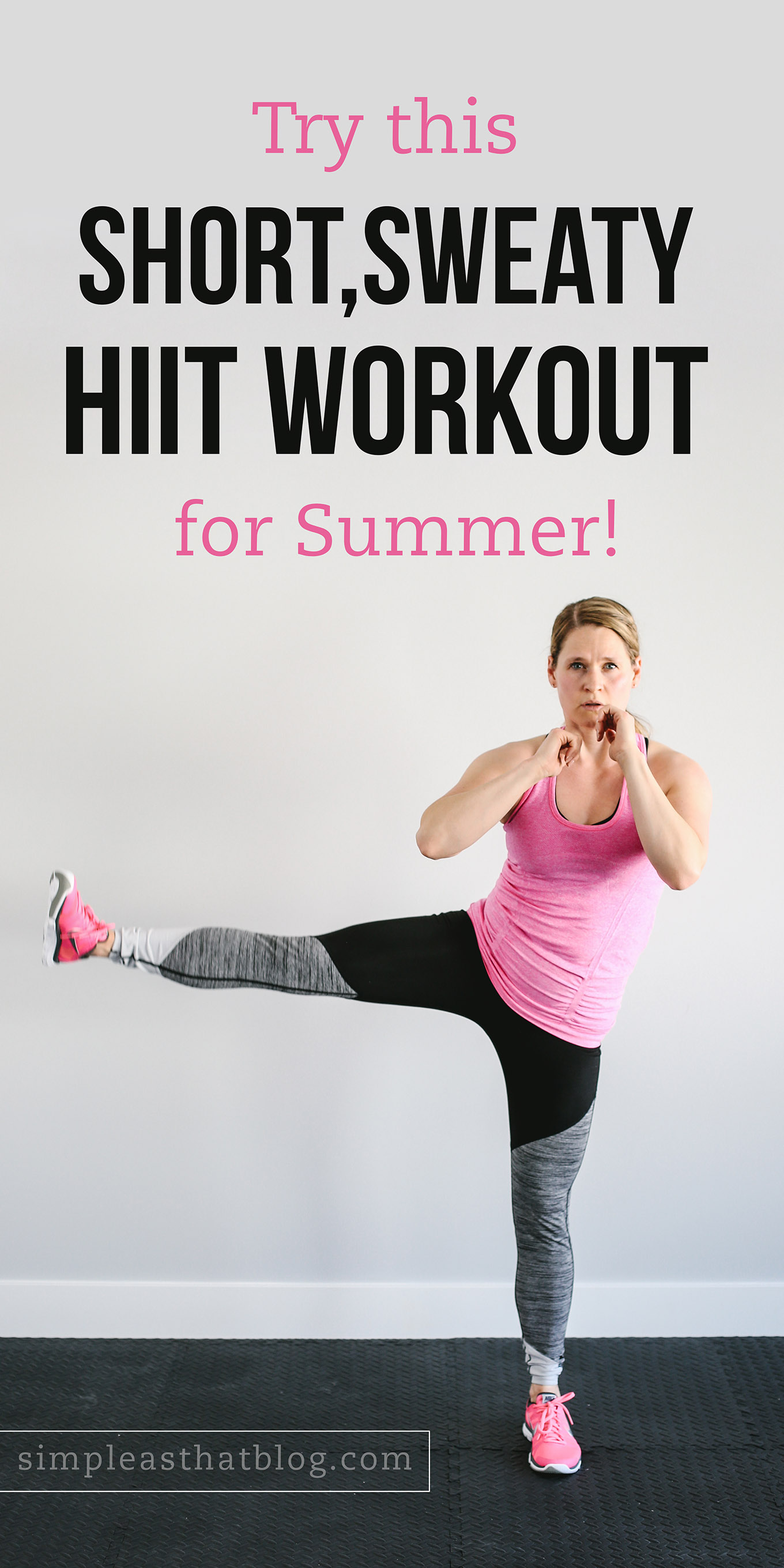 Summer is for parks, pools, and picnics. But you can still stay active and stick to healthy habits with today's 16-minute HIIT workout! It's short, sweaty and super fun, so you can get back to enjoying the sunshine with your kids!
