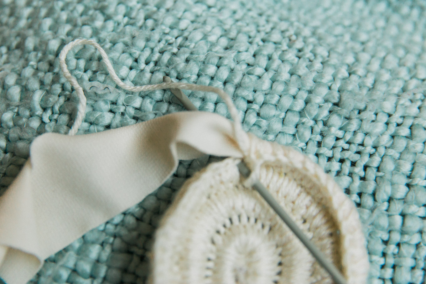 recycled fabric coiled basket