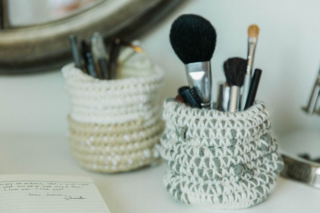recycled fabric coiled basket diy