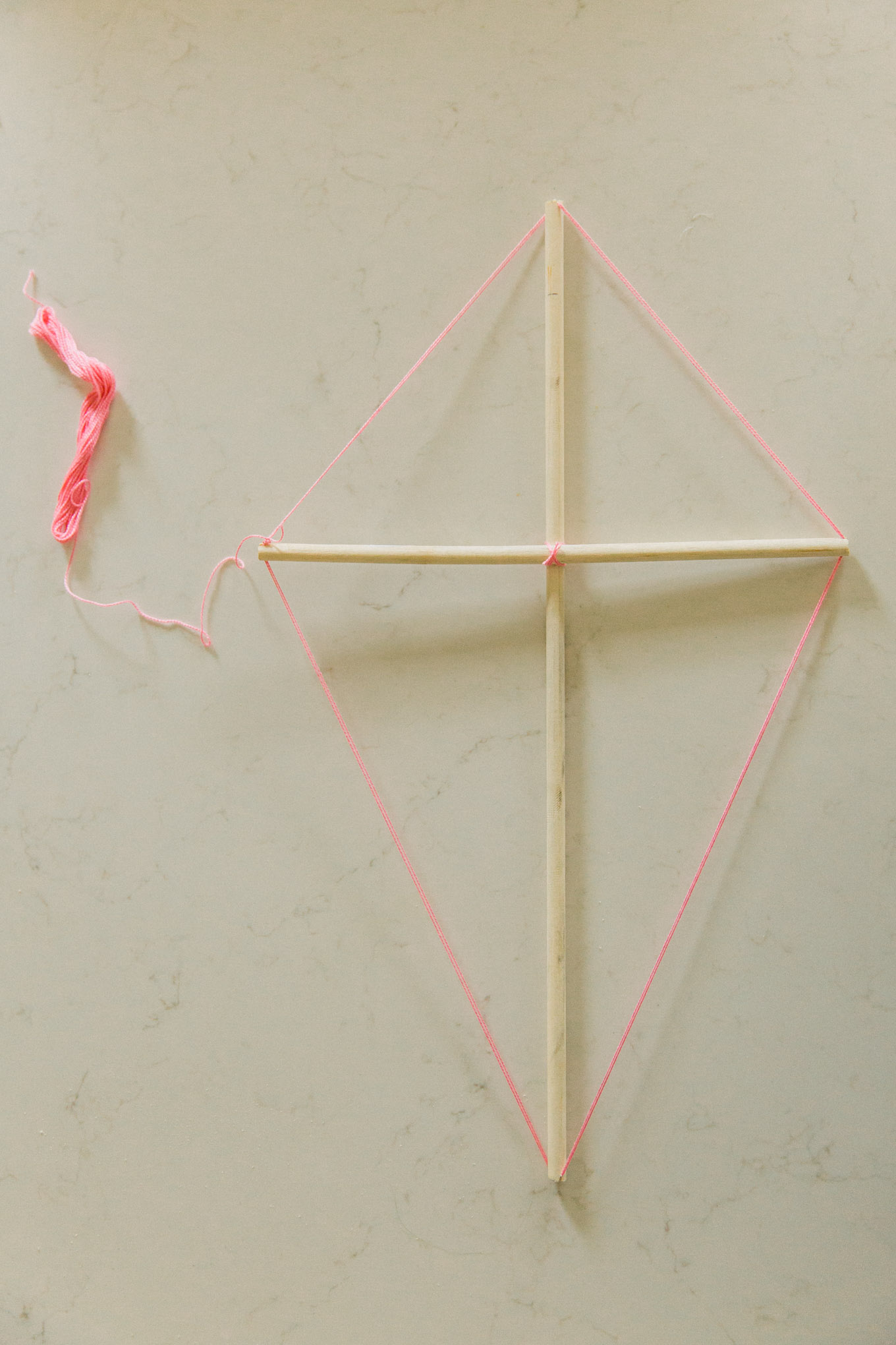 DIY old fashioned kite