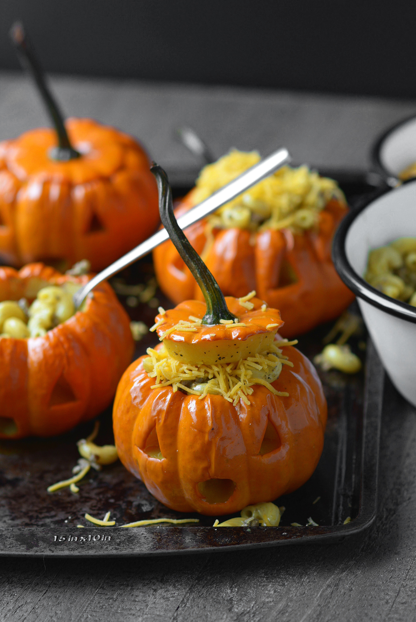 Pumpkin Jack 'n Cheese Bowls