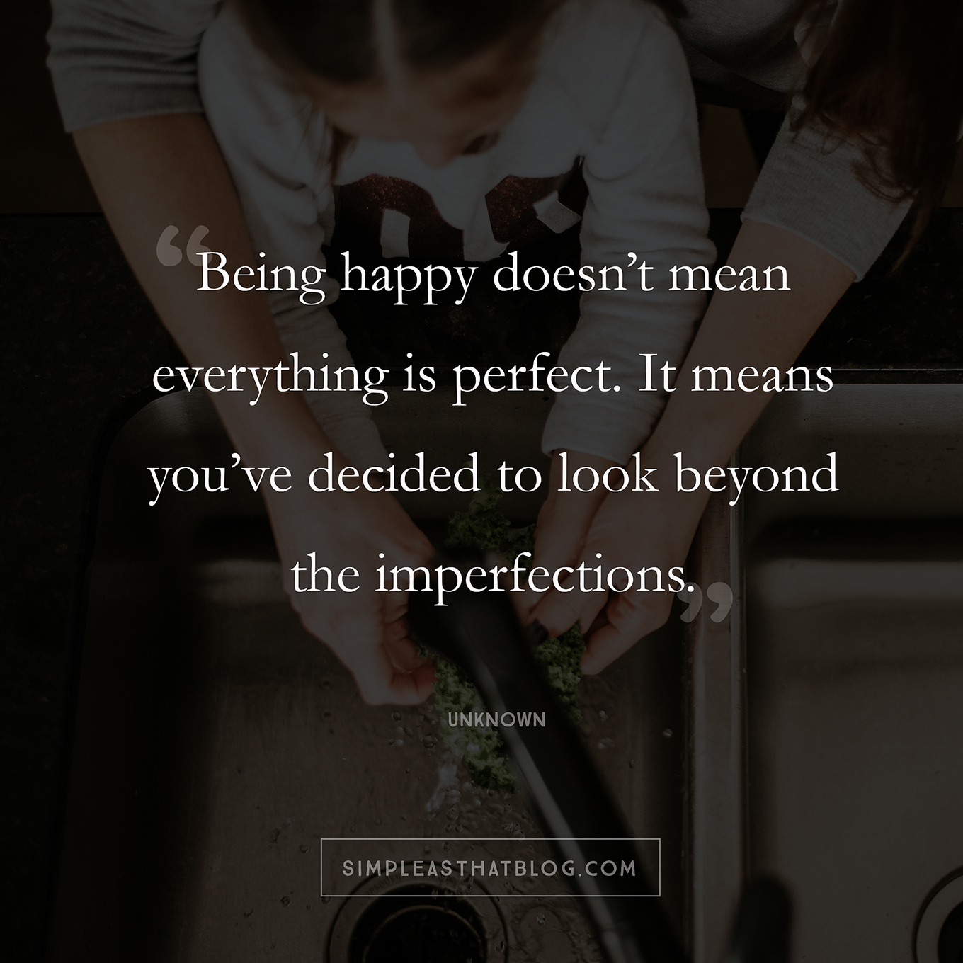 Perfectionism is robbing us of a beautiful, messy, and authentic motherhood. It's an all or nothing game, and there's just no winning. Maybe we can start letting go of perfect and give ourselves credit for simply doing our best.