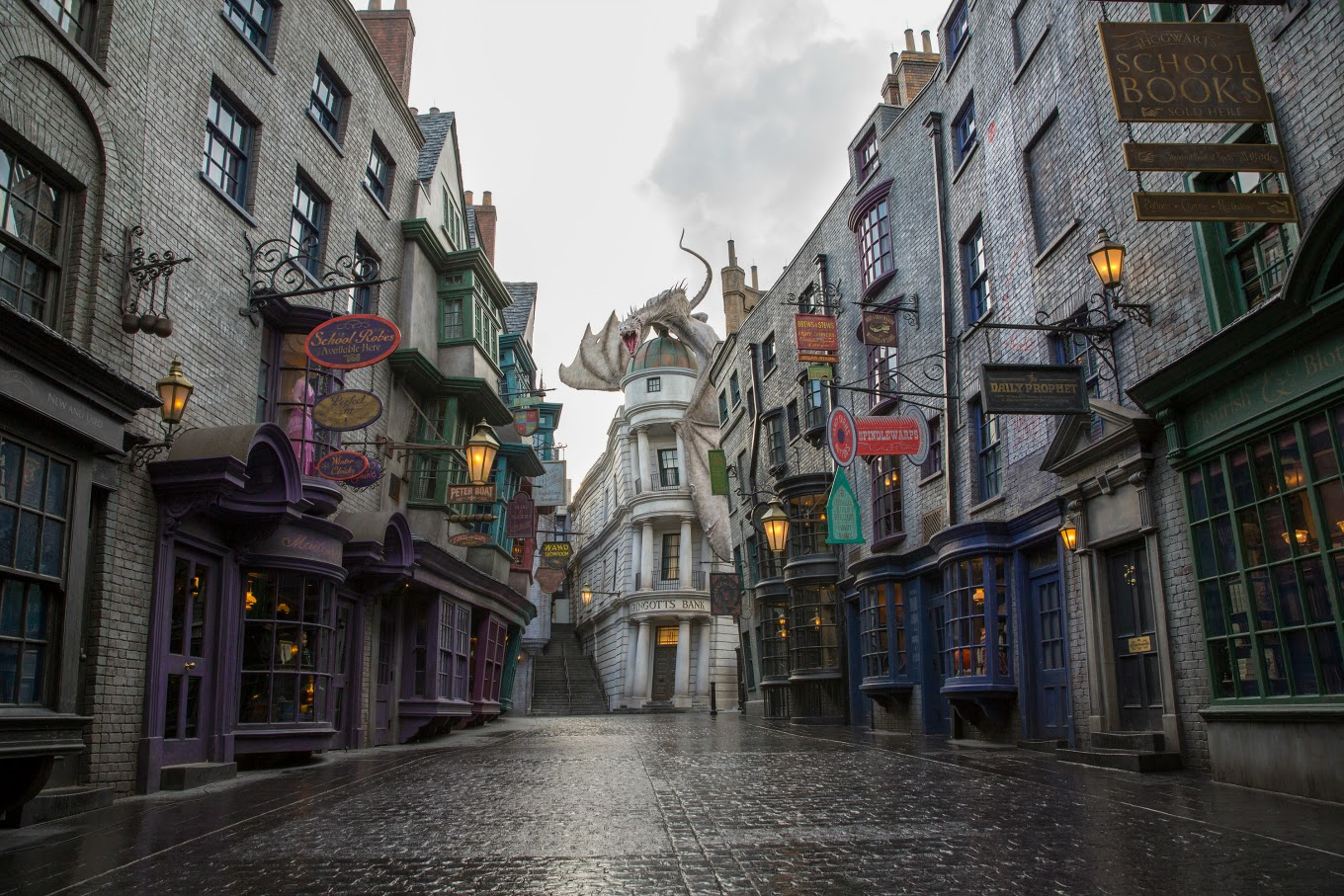 Diagon Alley in the Daytime-Harry Potter Spells