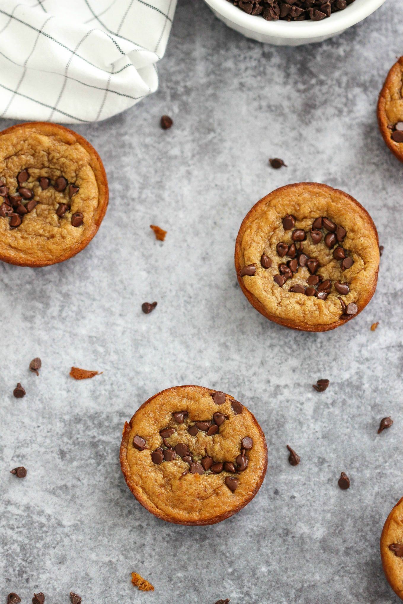 This muffin recipe couldn't get any easier my friends and it's a now a go-to in our after school snack rotation! They're delicious and can be thrown together in a snap with just 5 ingredients you're sure to have on hand.