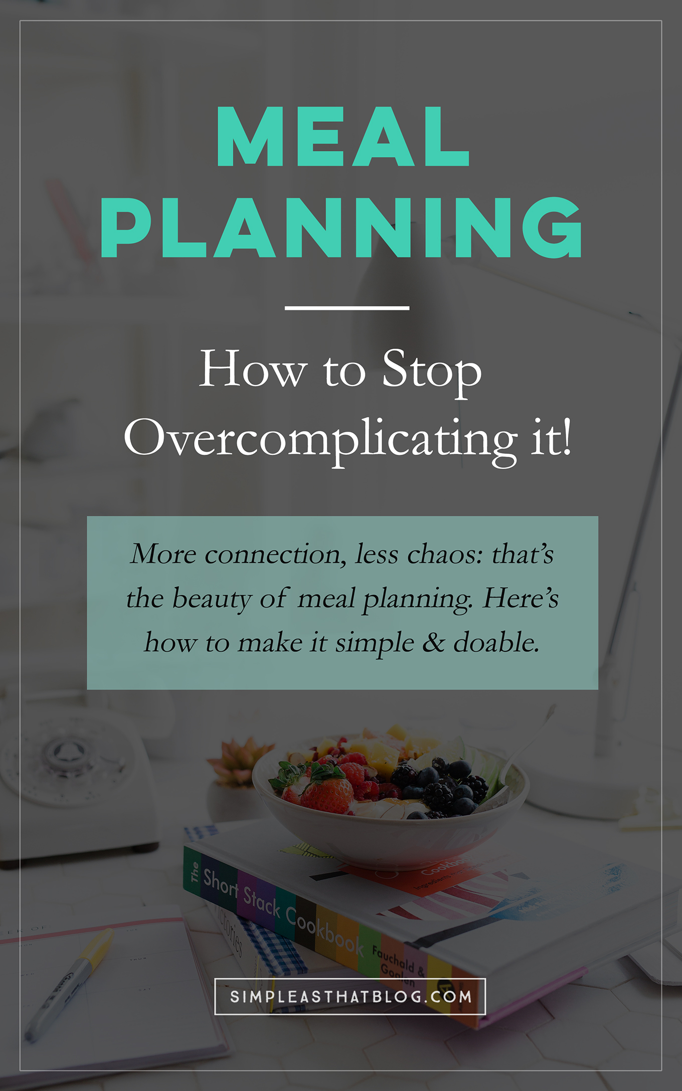 Does meal planning feel like just one more thing to add to your to-do list? Maybe that's because you're making it too complicated. (I know I was.) Here's how to simplify the process so it works in real life.