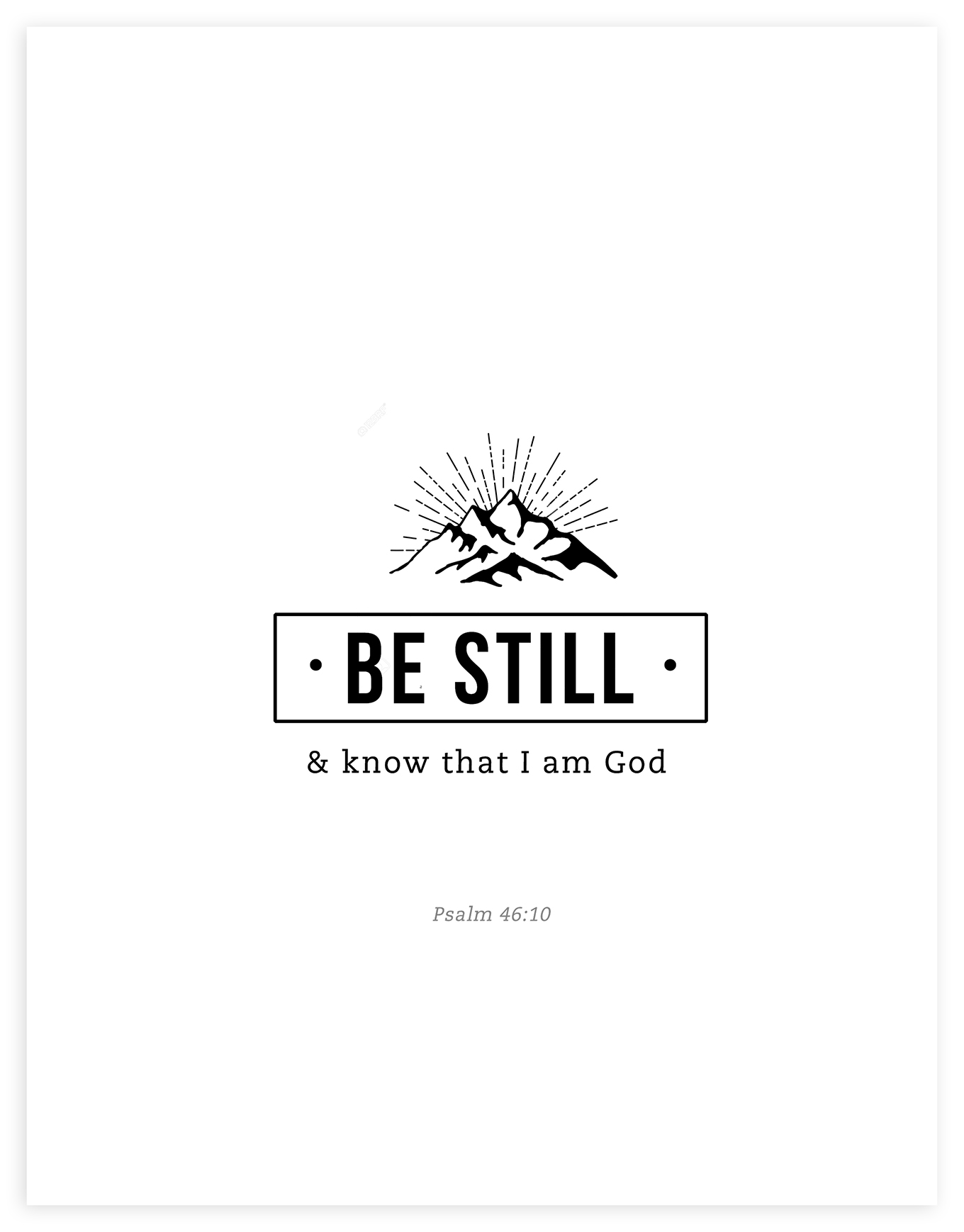2020 Back to School Theme - Be Still and Know that I am God printable.
